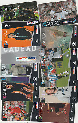 CARTE CADEAU  GIFT CARD -   INTERSPORT 12 cartes ( FRANCE )