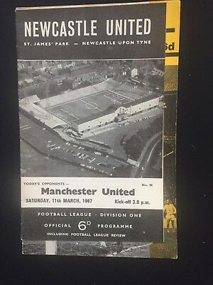 Newcastle United V Manchester United 11 March 1967 Includes Football Review