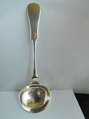 Magnificent Heavy Antique Provincial (Vilnus) Russian Solid Silver Goulash Ladle