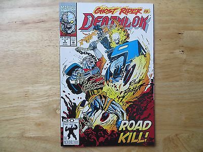 1992 Marvel Comics Deathlok # 9 The Ghost Rider Signed Creator Rich Buckler, Poa