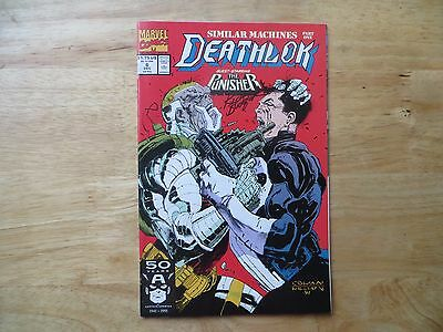 1991 Marvel Comics Deathlok # 6 Vs The Punisher Signed Creator Rich Buckler, Poa