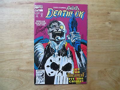 1992 Marvel Comics Deathlok # 7 Vs The Punisher Signed Creator Rich Buckler, Poa