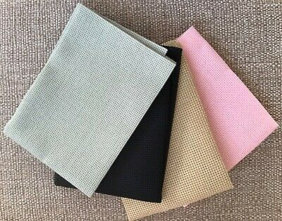 AIDA FABRIC 11ct  ( BUY 1 GET 1 FREE)  RED OR YELLOW BEIGE MED