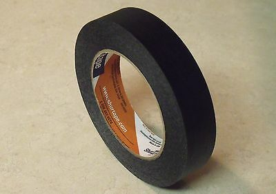 180 Foot Roll - 1 Inch Wide BLACK MASKING TAPE