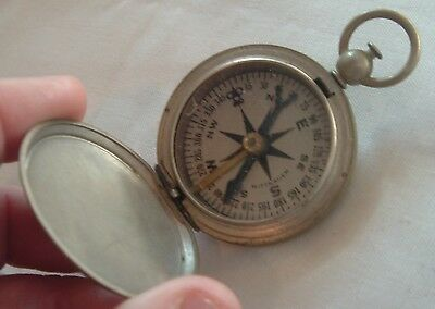 VINTAGE WWII WORLD WAR II ERA WITTNAUER US ARMY MILITARY Style POCKET COMPASS
