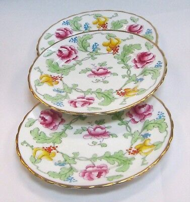 "Royal Chelsea Persian Rose Lot of  3 Salad Plates 8"" Near Mint"