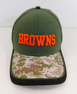 best website b3fd1 18db6 CLEVELAND BROWNS New Era 39THIRTY Spellout Logo NFL HAT Stretch Fitted Cap  Camo