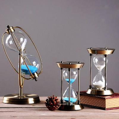 Vintage Metal Sand Timer Hourglass Home Office Table Decor Ornament Xmas Gift