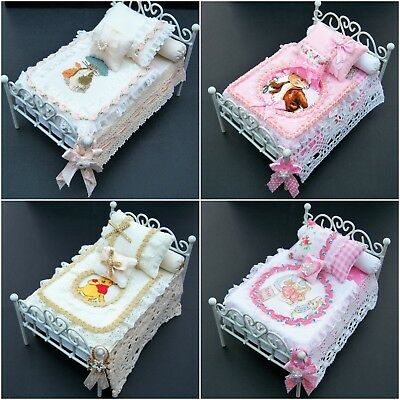 Handmade Miniature 1/12th scale dolls hse BEDDING for SINGLE BEDs - various..