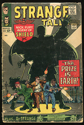 (Silver Age) Strange Tales #137 complete Poor/Fair condition