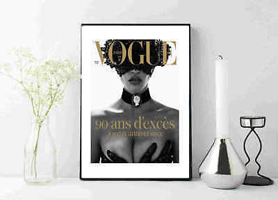 VOGUE EXCESS POSTER: Anniversary Fashion Cover, Art Print poster