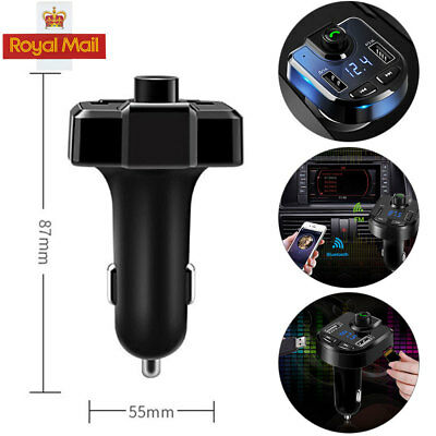 Bluetooth LCD Wireless UK Car MP3 FM Transmitter Radio USB Charger Handsfree Kit