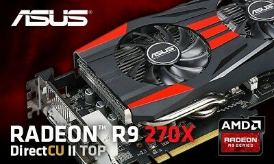 ASUS RADEON R9 270x 2GB GDDR5 Top Overclock Edition Graphics Card
