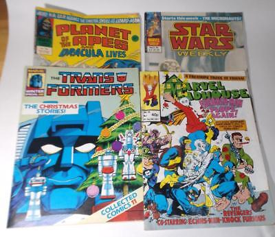 4x 70s/80s MARVEL comics Transformers Special, Madhouse, Planet Apes, Star Wars