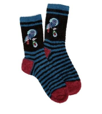 Vera Bradley OWLS SOCKS 1 Pair COZY Sock Crew Night Owl NWT NEW UPC:047852237604