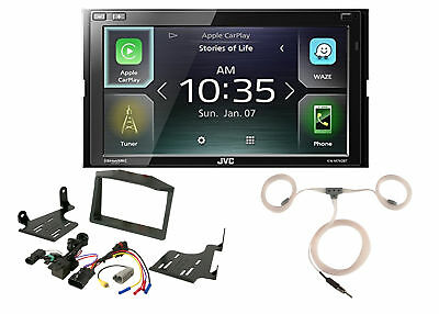 JVC Digital Media WebLink Radio, Scosche Polaris Dash Kit, Enrock Marine Antenna