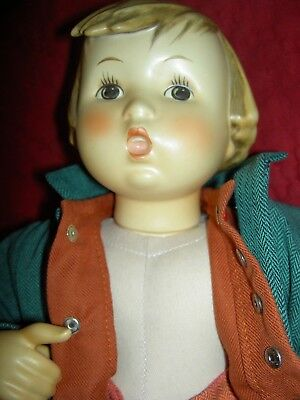 "Adorable, 1983-4 13+"" bisque, Merry Wanderer, boy doll by Goebel Hummel, Germany"