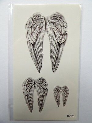 ANGEL WINGS TEMPORARY TATTOOS (BRAND NEW) 110mm X 60mm X370