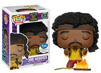 FUNKO POP ROCKS 2017 JIMI HENDRIX #53 FYE EXCLUSIVE WOODSTOCK Figure IN STOCK