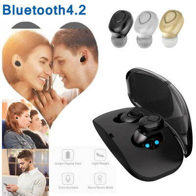 Twins Mini True Wireless In Ear Stereo Sport Bluetooth Earbuds Headset Headphone