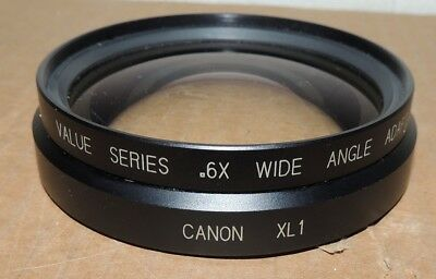 CENTURY XL1 CANON .6X WIDE ANGLE ADPATER XL CAMCORDER LENS Mini DV C45511