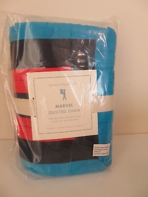 Pottery Barn Kids Marvel Quilted Standard Pillow Sham New