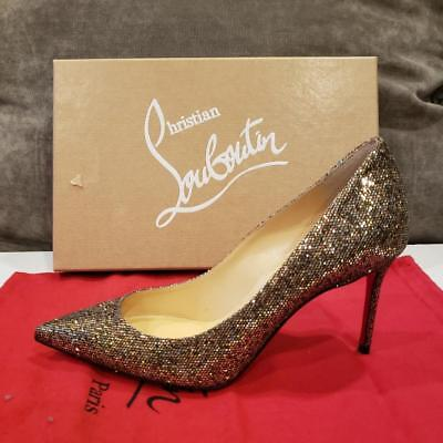 daa59d36d35c Christian Louboutin DECOLLETE 554 85 Glitter Regina Heels Pumps Shoes  745