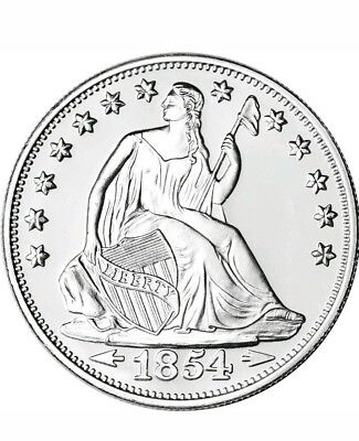 1 oz. Highland Mint Silver Round - Seated Liberty Design .999 Fine Silver Round