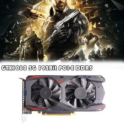 5GB GTX 1060 Video Gaming Graphics Card HDMI VGA DVI GDDR5 192Bit+Driver Disk