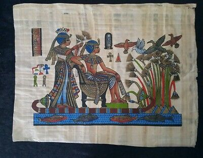 """Egyptian Papyrus Original Hand Painted Made in Egypt 13'' X 17"""" River Nile"""
