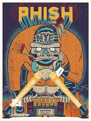 Phish Print Poster New Years MSG Bakers your cinema
