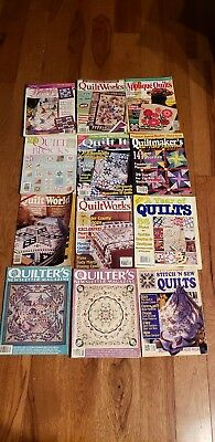 Lot Of 12 Quilt Magazines full size 300  Patterns Sew Craft 1990-2004 Sew Fun!
