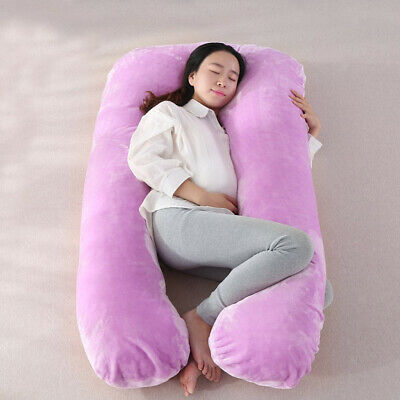 Comfort Flannel Pregnancy Feeding Pillowcase Body Belly Back Neck Support