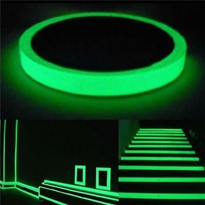 Glow In The Dark Adhesive Luminous Sticky Tape Saftey Sign Sticker Roll 1PC FG
