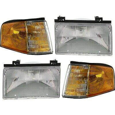 Headlights Headlamps Left Only for 92-94 Ford Tempo Mercury Topaz