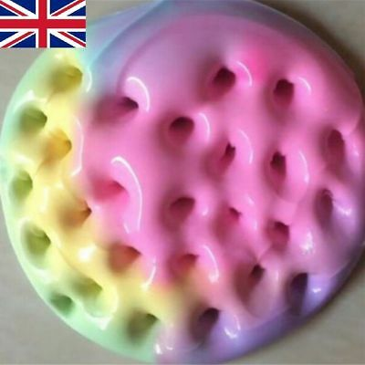 UK New Glossy Cotton Clicky Rainbow Puff Slime Kids Stress Relief Toys