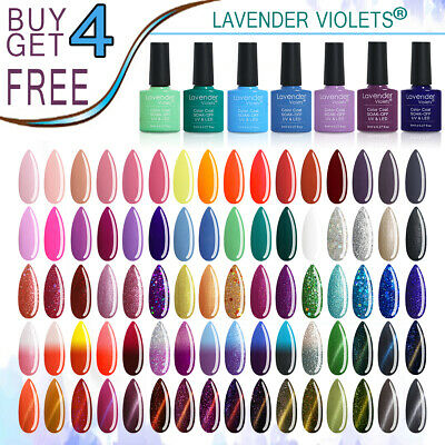 Lavender Violets 8ml Soak off UV LED Nail Gel Polish Color Base Top Coat Varnish
