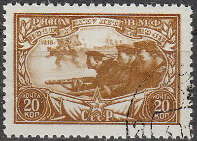 Stamp Russia USSR SC 0899 1943 WWII Stalin Sailor Anniversary Red Army Navy Used