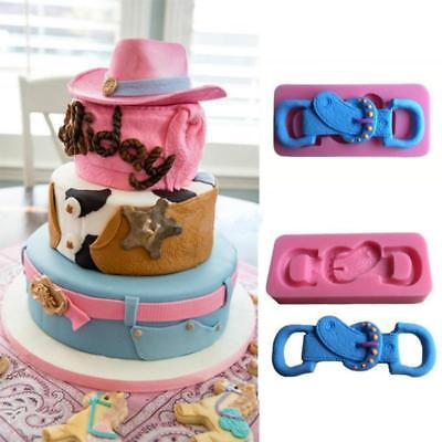 New Belt Silicone Fondant Cake Mould Decorating Baking Tray Soap Mold Tools GR