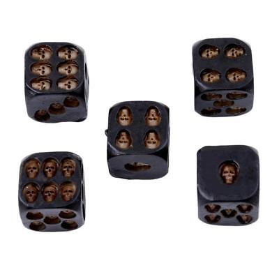 5X 3D Dice with Death Skull Dice Gothic Fantasy Game Gift Skull Table Games GR