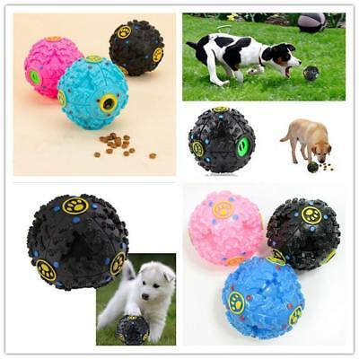 New Tough Food Dispenser Giggle Ball Sound Chew Pet Puppy Treat Trainning Toy GR