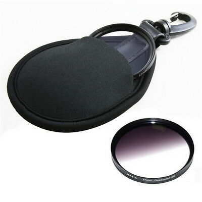 New Elastic Free Shipping Portable Camera Filter Lens Bag Case Pouch Holder GR