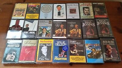 Job Lot Of 21 Country Music Audio Cassette Tapes Easy Listening J Cash J Reeves