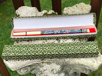 Vintage Chinese Cloisonne Enamel Chop Sticks - TWO PAIRS BOXED