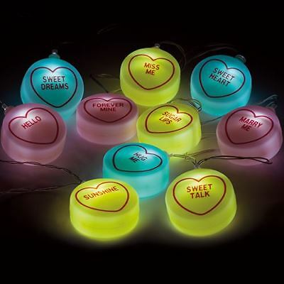 Swizzels Love Hearts String Lights Battery LED Fairy