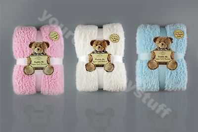 Teddy Bear Throw Soft Blanket Sherpa Bed Sofa Couch 100 x 150cm Cuddle Snug