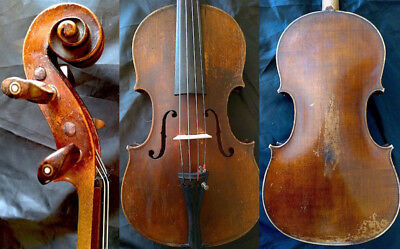 FINE 4/4 ANTIQUE GERMAN VIOLIN Label Schrotter bei Graslitz c1880 バイオリン 기존 바이올린