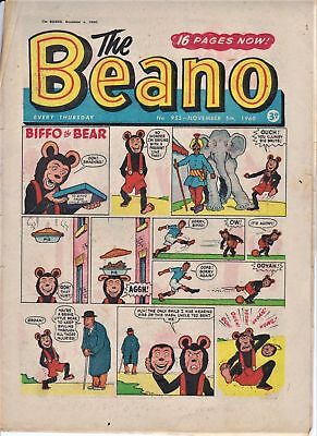 BEANO # 955 November 5th 1960 the Fireworks comic Bonfire Night magazine