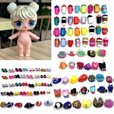 LOL Surprise Glam Glitter Curious QT Doll &Random dress shoes Bottle  97% New
