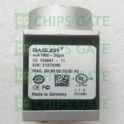 1PCS Used BASLER camera acA1600-20gm Tested in Good condition